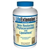 Life Extension Skin Restoring Phytoceramides with Lipowheat 30 Vege Caps