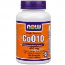 Now Foods CoQ10 w/Lecithin & Vitamin E 400mg 60 Softgels