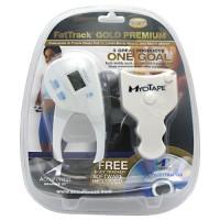 AccuFitness FatTrack GOLD Premium Digital Body Fat Caliper w- Myo Tape
