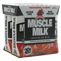CytoSport Muscle Milk RTD Strawberries 'N Creme 6 - 4 packs [24 - 11 fl oz (330 ml) shakes]