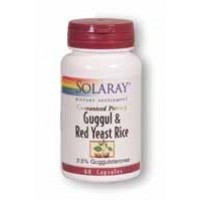 Solaray Guggul and Red Yeast Rice 60 Caps