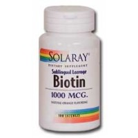 Solaray Biotin 1000mcg 100 Sublingual Lozenges