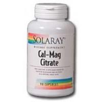 Solaray Cal-Mag Citrate 1000mg/1000mg 180 caps