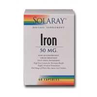 Solaray Iron Blister-Pack 50mg 60 Caps