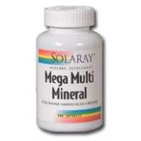 Solaray Mega Multi Mineral Iron Free 200 Caps