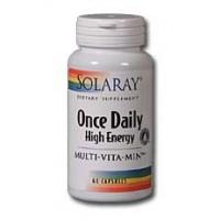 Solaray Once Daily High Energy Multi-Vitamin Iron Free 60 Caps
