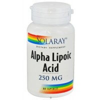 Solaray Alpha Lipoic Acid is water and oil-soluble for maximum effect in all tissues. Solaray Alpha Lipoic Acid works synergistically with antioxidant vitamins at a cellular level. Solaray Alpha Lipoic Acid has distinctive free-radical scavenging properti