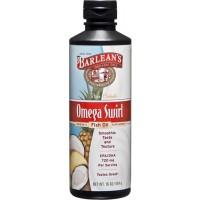 Barlean's Omega Swirl Omega-3 Fish Oil Supplement Pina Colada 16 Fl Oz