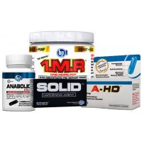 BPI Sports Mass Building Protocol Stack (A-HD, SOLID, Anabolic Elite, 1MR)