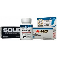 BPI Sports Triple Threat Stack (SOLID, Anabolic Elite, A-HD)