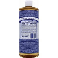Dr. Bronner's Pure Castille Liquid Soap Peppermint 16 oz
