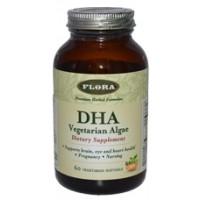 Flora (Udo's Choice) DHA Vegetarian Algae 60 Vege Softgels