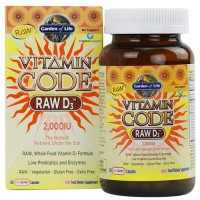 Garden of Life Vitamin Code Raw D3 2000IU 120 Caps