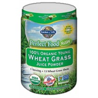 Garden of Life Perfect Food Raw 100% Organic Young Wheat Grass Juice Powder 120 Grams