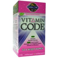 Garden of Life Vitamin Code 50 and Wiser Womens Formula 240 Vege Caps