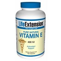 Life Extension Pure Natural Vitamin E 400 IU 100 Caps