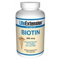 Life Extension Biotin 600 mcg 100 Caps