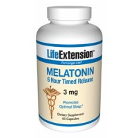 Life Extension Melatonin 6 Hour Timed Release 3mg 60 Caps