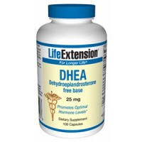 Life Extension DHEA (Dehydroepiandrosterone) 25mg 100 Caps