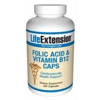 Life Extension Folic Acid with Vitamin B12 200 Caps