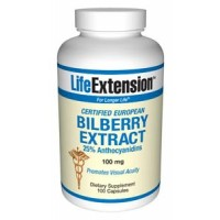 Life Extension Bilberry Extract 100 mg 100 Caps