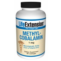 Life Extension Methylcobalamin 1mg 60 Lozenges (to be dissolved in the mouth)