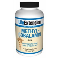 Life Extension Methylcobalamin 5mg 60 Lozenges (to be dissolved in the mouth)