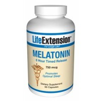 Life Extension Melatonin (6 Hour Timed Release) 750 mcg 60 Caps