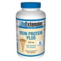 Life Extension Iron Protein Plus 300mg 100 Caps