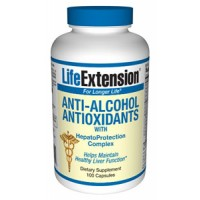 Life Extension Anti-Alcohol Antioxidants with HepatoProtection Complex 100 Caps