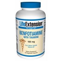 Life Extension Benfotiamine with Thiamine 100mg 120 Vegecaps