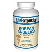 Life Extension Korean Angelica (certified potency) 250mg 60 Vegecaps