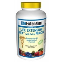Life Extension Mix with Extra Niacin without Copper 315 Tabs
