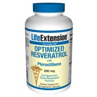 Life Extension Optimized Resveratrol with Synergistic Grape-Berry Actives 250mg 60 Vegecaps