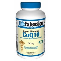 Life Extension Super Ubiquinol CoQ10 with Enhanced Mitochondrial Support 50mg, 100SG