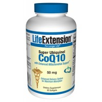 Life Extension Super Ubiquinol CoQ10 with Enhanced Mitochondrial Support 50 mg, 30 Softgels