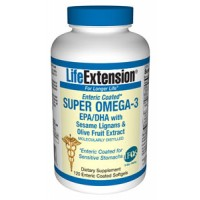 Life Extension Super Omega-3 EPA/DHA with Sesame Lignans and Olive Fruit Extract 120 enteric coated SG