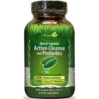 Irwin Naturals Active-Cleanse and Probiotics 60 Liquid Soft Gels