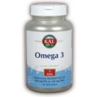 Kal Omega-3 Fish Oil 120 Softgels