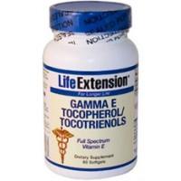 Life Extension Gamma E Tocopherol/Tocotrienols 60 Softgels