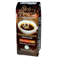 Life Extension Rich Rewards Breakfast Blend Ground Coffee