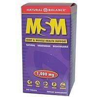 Natural Balance Pure MSM 1000mg 240 Caps