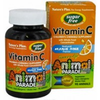Nature's Plus Animal Parade Children's Chewable Vitamin C Orange Flavor 90 Chews