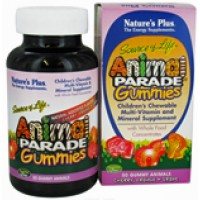 Nature's Plus Animal Parade Gummies Assorted Fruit Flavors 50 Gummies