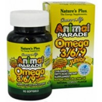 Nature's Plus Animal Parade Omega 3/6/9 Junior Lemon 90 Softgels