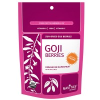 Navitas Naturals Sun-Dried Goji Berries (Certified Organic) 16 Oz