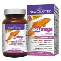 New Chapter WHOLEmega Prenatal 500mg 90 Soft Gels