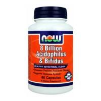 Now Foods 8 Billion Acidoph/Bifidus 60 Vege Caps