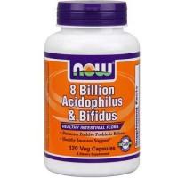 Now Foods 8 Billion Acidoph/bifidus 120 Vege Caps