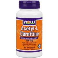 Now Foods Acetyl L-Carn 500 Mg 50 Vegetable Capsules